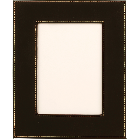 "Black/Gold 5"" x 7"" Leatherette Photo Frame"