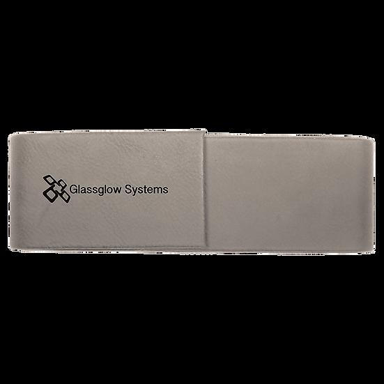 Gray Leatherette Double Pen Case