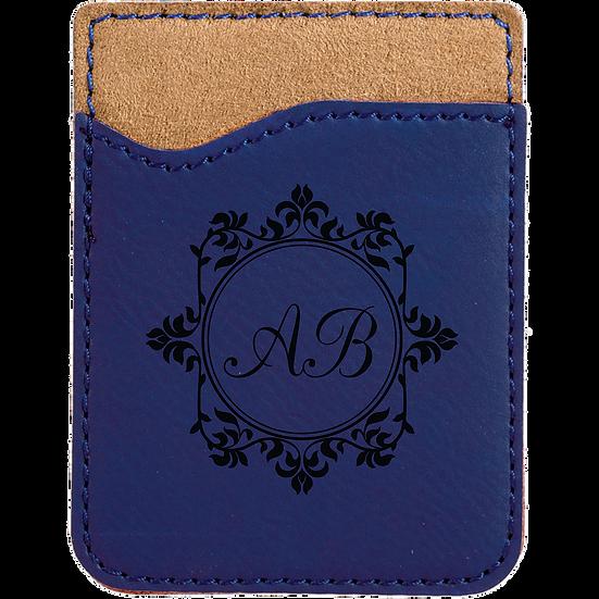 Blue/Black Leatherette Phone Wallet