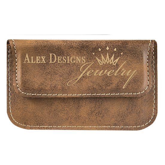 Rustic/Gold Leatherette Flexible Card Case