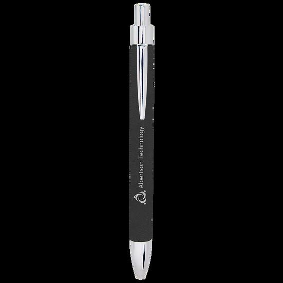 Black/Silver Leatherette Pen