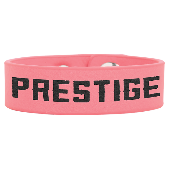 Pink Leatherette Cuff Bracelet