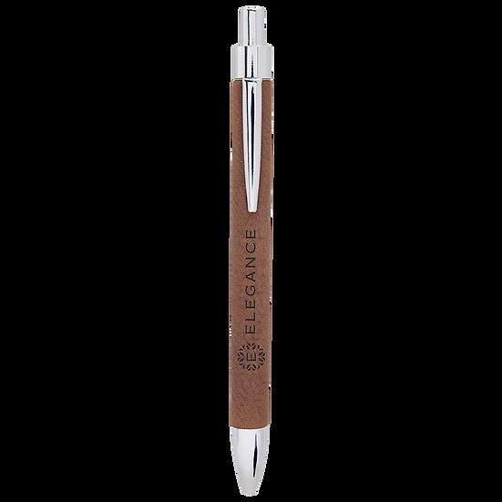 Dark Brown Leatherette Pen