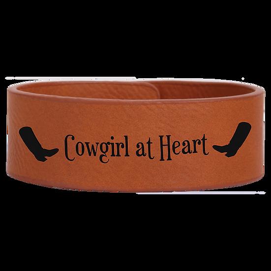 Rawhide Leatherette Cuff Bracelet