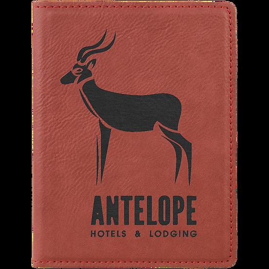 Rose' Leatherette Passport Holder