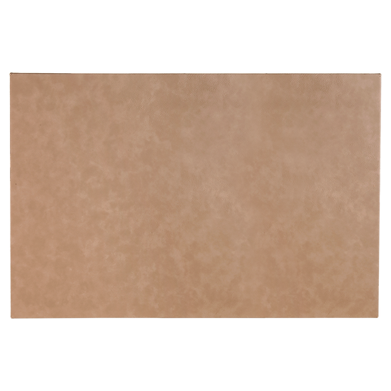 "Light Brown 12"" x 18"" Leatherette Wall Decor/Signage with Sawtooth Hanger"