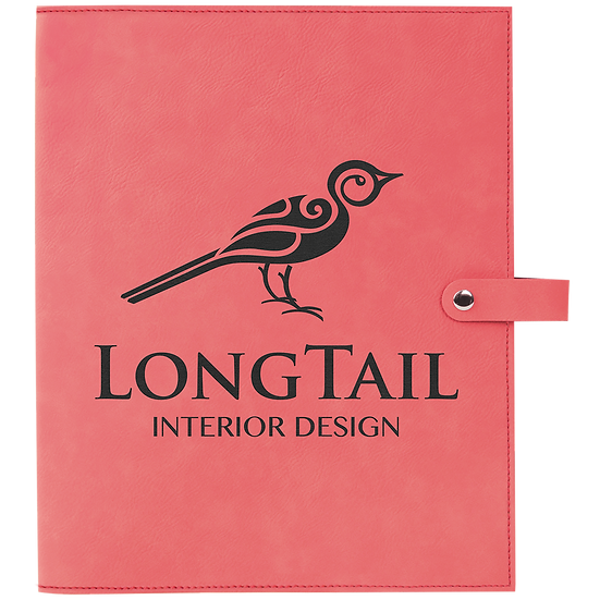 Pink Leatherette Book Cover with Snap Closure