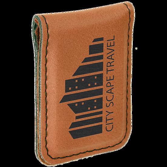 Rawhide Leatherette Money Clip