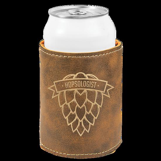 Rustic/Gold Leatherette Beverage Holder