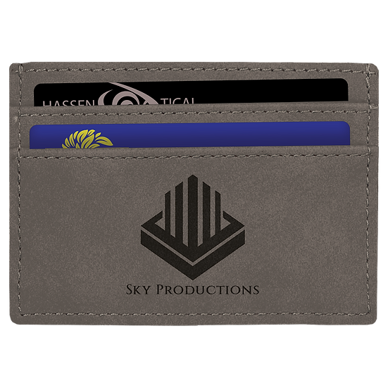 Gray Leatherette Money Clip