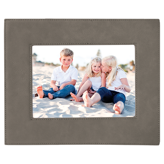 "Gray 5"" x 7"" Leatherette Photo Frame"