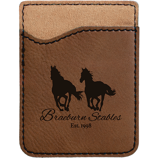 Dark Brown Leatherette Phone Wallet