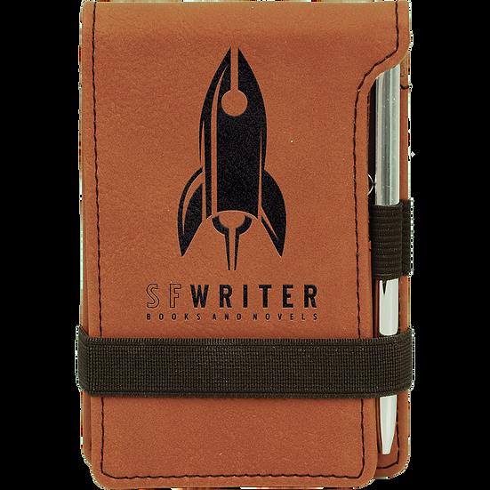 Rawhide Leatherette Mini Notepad & Pen Set