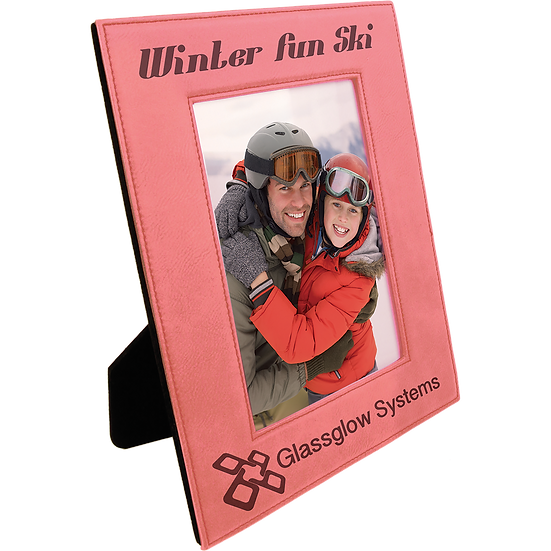 "Pink 4"" x 6"" Leatherette Photo Frame"