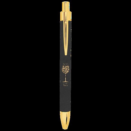 Black/Gold Leatherette Pen