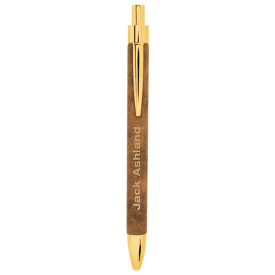 Rustic/Gold Leatherette Pen