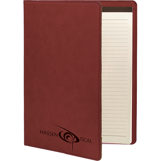 Rose' Small Leatherette Portfolio with Notepad