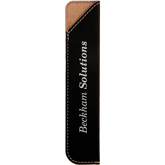 Black/Silver Leatherette Pen Sleeve