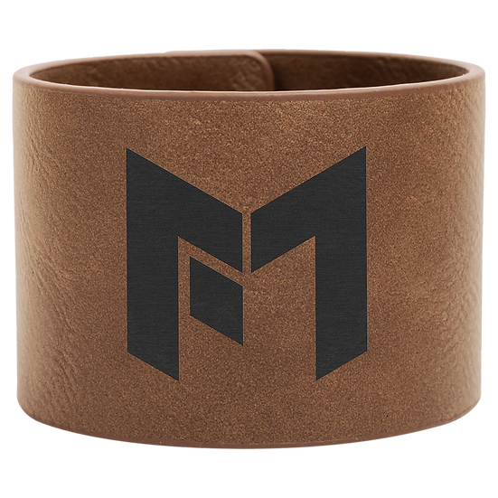 Dark Brown Leatherette Cuff Bracelet