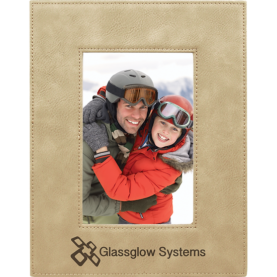 """Light Brown 4"""" x 6"""" Leatherette Photo Frame"""