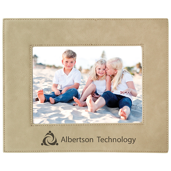 "Light Brown 5"" x 7"" Leatherette Photo Frame"