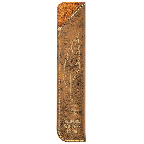 Rustic/Gold Leatherette Pen Sleeve