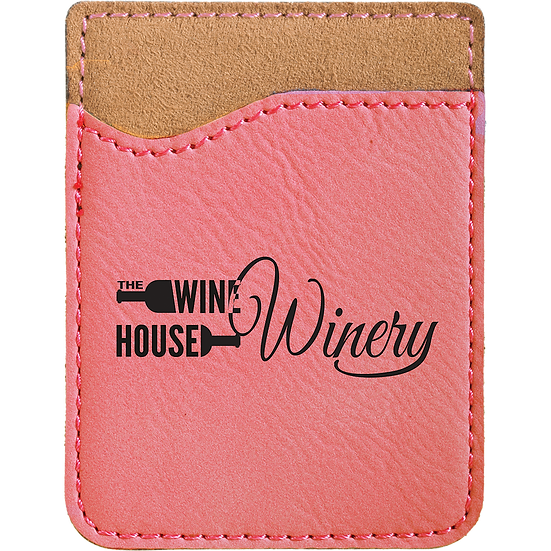 Pink Leatherette Phone Wallet