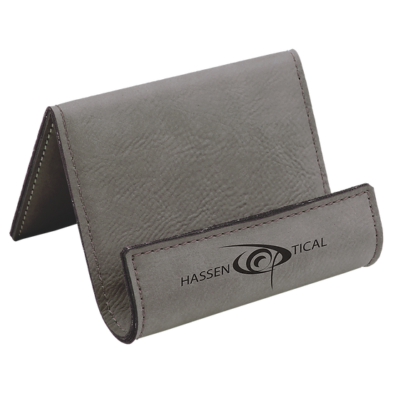 Gray Leatherette Holder/Easel