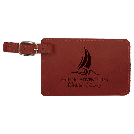 Rose' Leatherette Luggage Tag