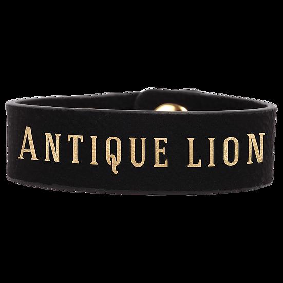 Black/Gold Leatherette Cuff Bracelet