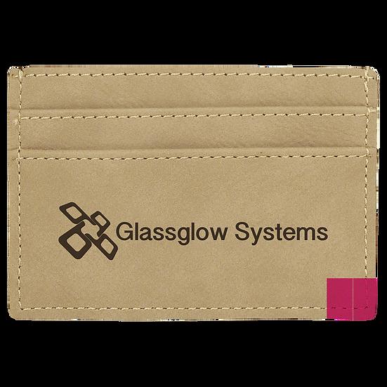 Light Brown Leatherette Money Clip