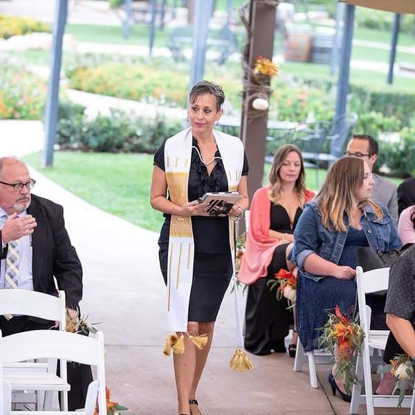 Wedding Processional at Wilson Creek Winery