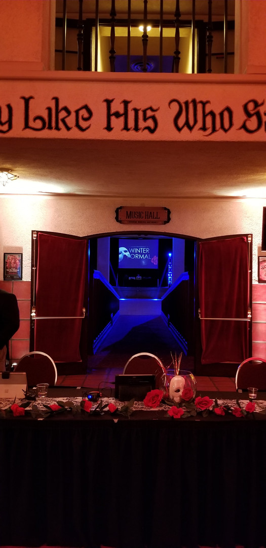 Entry to the Mid-Winter Ball at the Riverside Municipal Auditorium