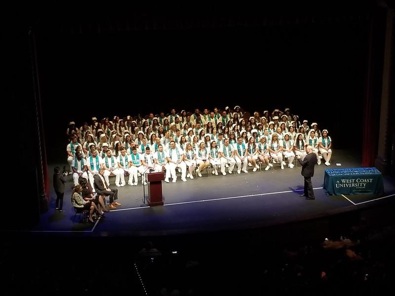 West Coast University School of Nursing Pinning Ceremony at the FOX Theater