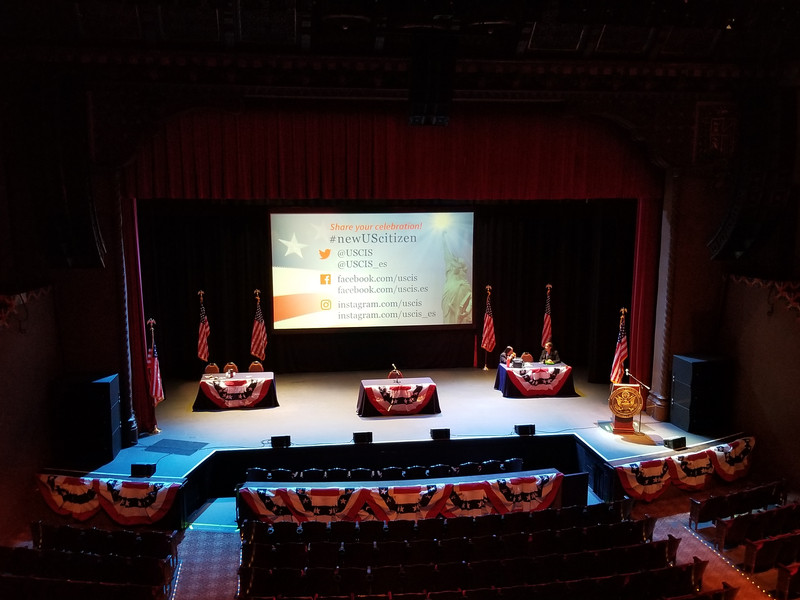Pre-Naturalization/Citizenship Ceremony at the FOX Theater