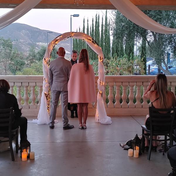 Jean & Gladise Ceremony at Oak Mountain Winery