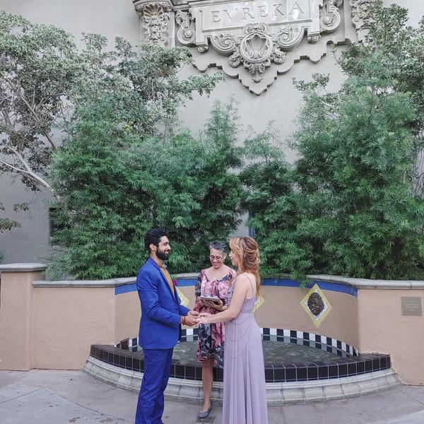 Sinan & Holly Elopement at Balboa Park