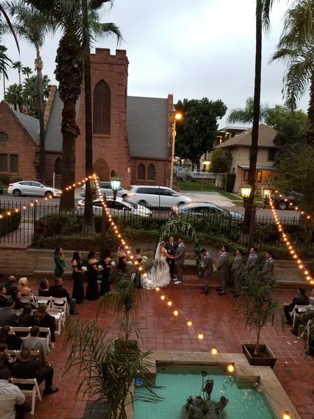 Outdoor Ceremony at the Riverside Municipal Auditorium