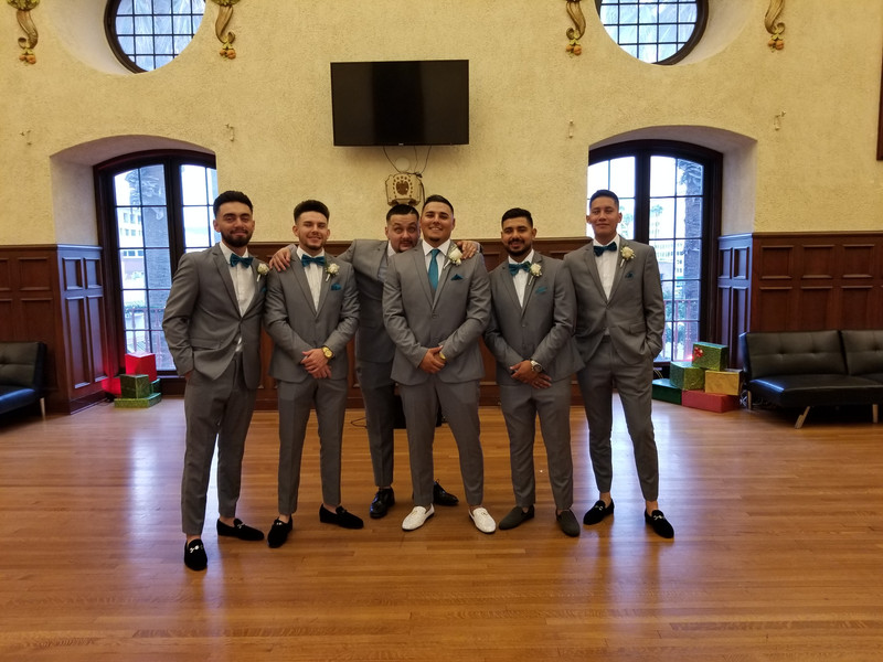 The Groom and his Groomsmen before the Wedding Ceremony