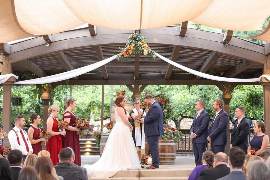 Beachamp Wedding Ceremony at Wilson Creek Winery