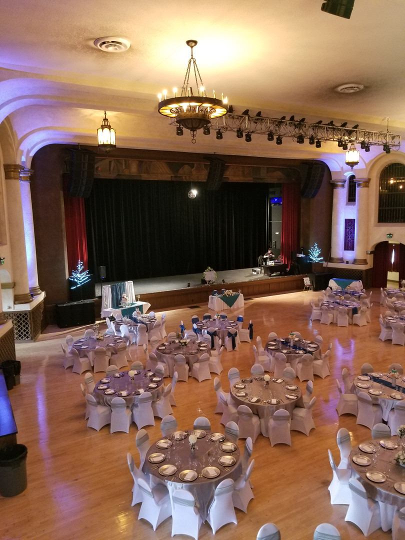 Reception at the Riverside Municipal Auditorium