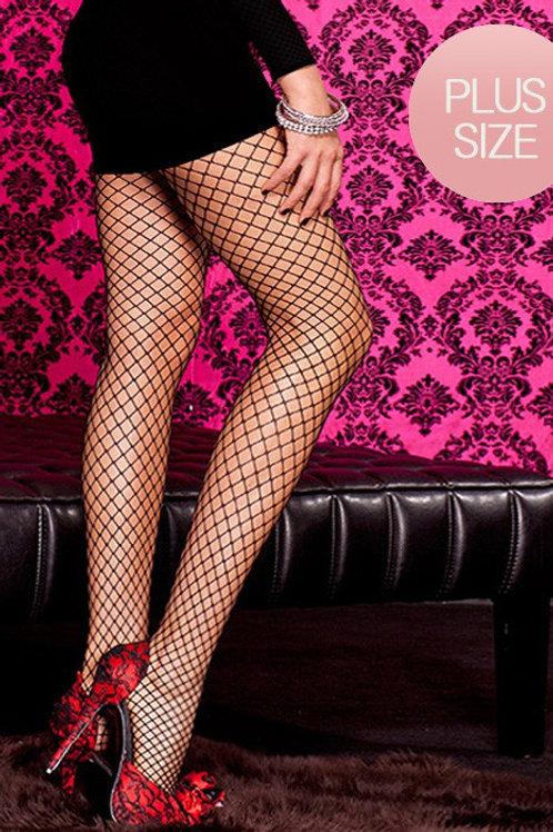 Seamless diamond net pantyhose tights