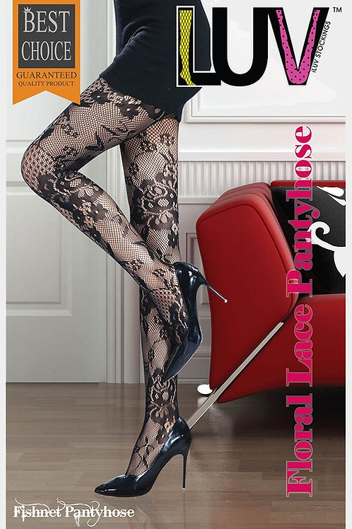 Floral Lace Pantyhose Thigh High Stockings