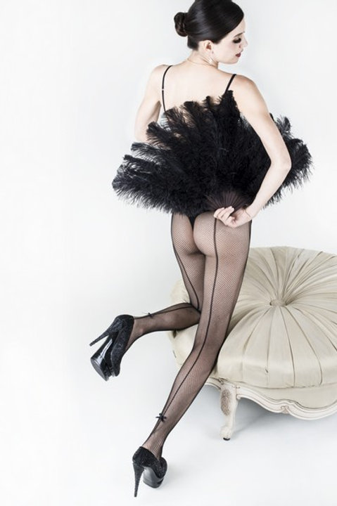 Bow-Tie Fishnet Tights