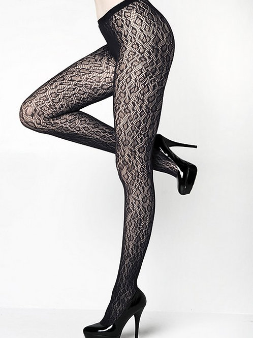Leopard Spotted Fishnet Pantyhose