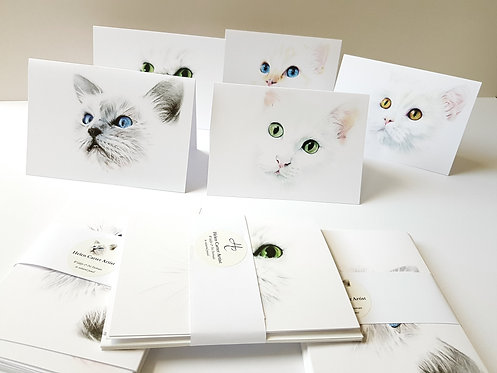 White Cat Collection - Greeting Cards