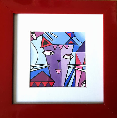 Cubist Cat - ORIGINAL ARTWORK
