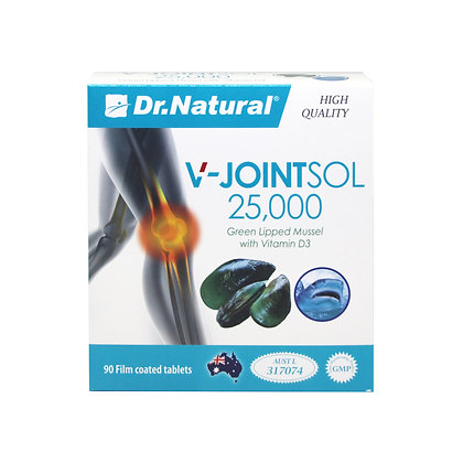 [Dr.Natural] V-Jointsol 25000 Green Lipped Mussel with Vitamin D3 90's