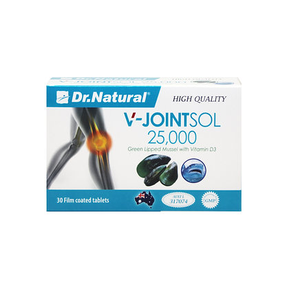 [Dr.Natural] V-Jointsol 25,000 Green Lipped Mussel with Vitamin D3 30's
