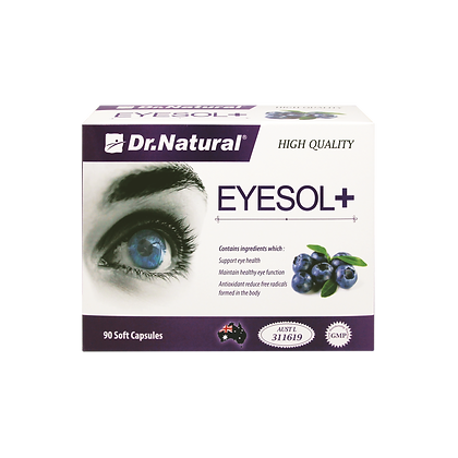 [Dr.Natural] Eyesol+ Super Lutein Complex 90's